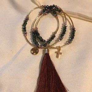 Jewelry - Artisanal Crystal Bead Bracelet Trio